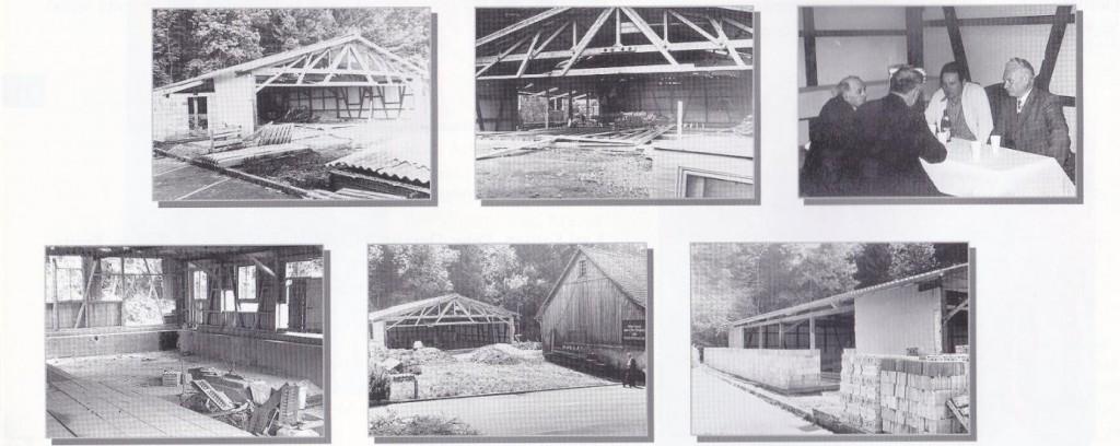 Bilder von der Bautätigkeit im Jahre 1977 – aus der alten Säge wurde eine Ringerhalle!